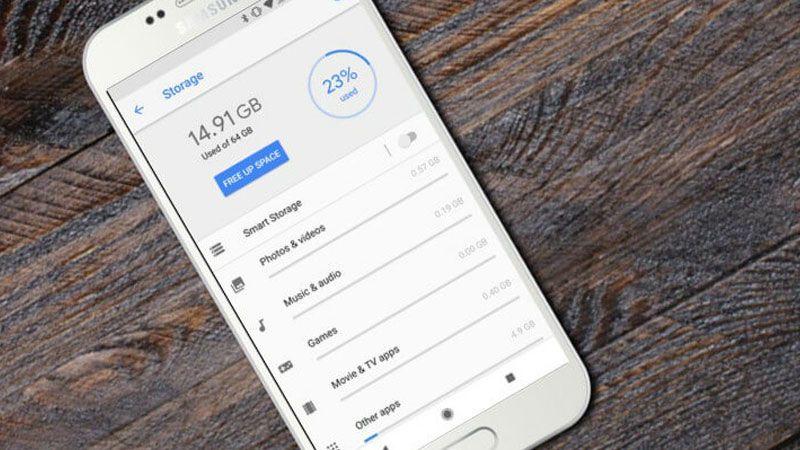 كيف نزيد مساحة التخزين في الهاتف؟