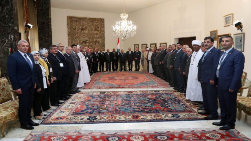 """الرئيس عون يدعو الى التنبّه للمخطط الاسرائيلي ضمن """"صفقة القرن"""""""