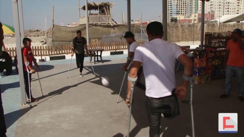 أول استراحة لذوي الإحتياجات الخاصة في غزة.. على البحر