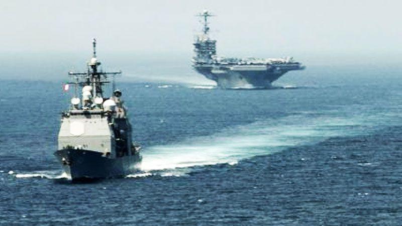 العدو يجري مناورة عسكرية لاختبار سلاح البحر