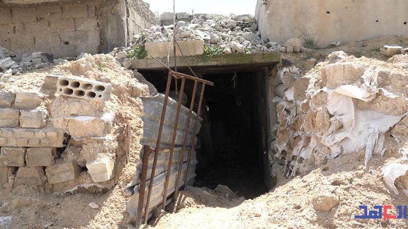 """""""العهد"""" يجول في أنفاق خان شيخون: مدن من الكهوف تحت الأرض"""
