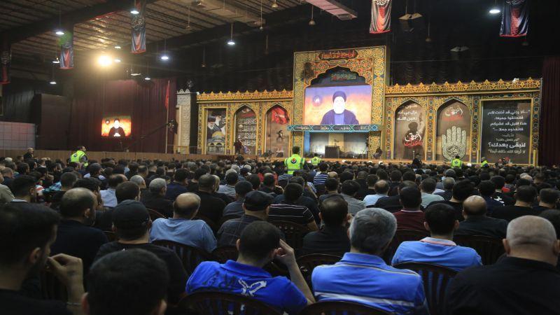 السيد نصر الله يتحدث في المجلس الحسيني غداً الثلاثاء في مجمع سيد الشهداء(ع)