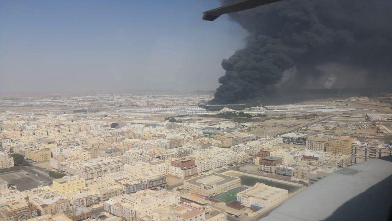 السعودية: حريق ضخم في محطة قطار الحرمين في جدة والأسباب مجهولة