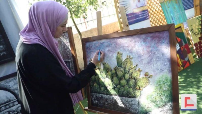 وفاء الأدهمي.. فلسطينية تجسد الواقع بلمسات فنية