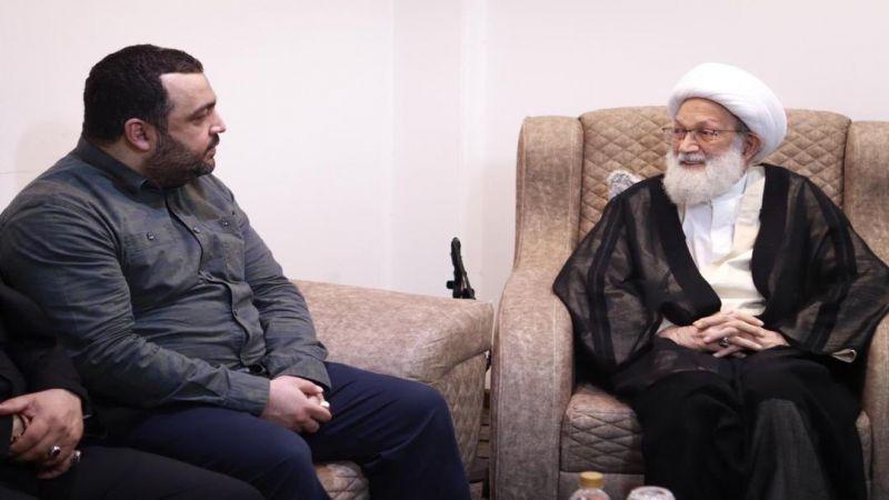 آية الله قاسم يلتقي أسرة الأمين العام لحزب الله