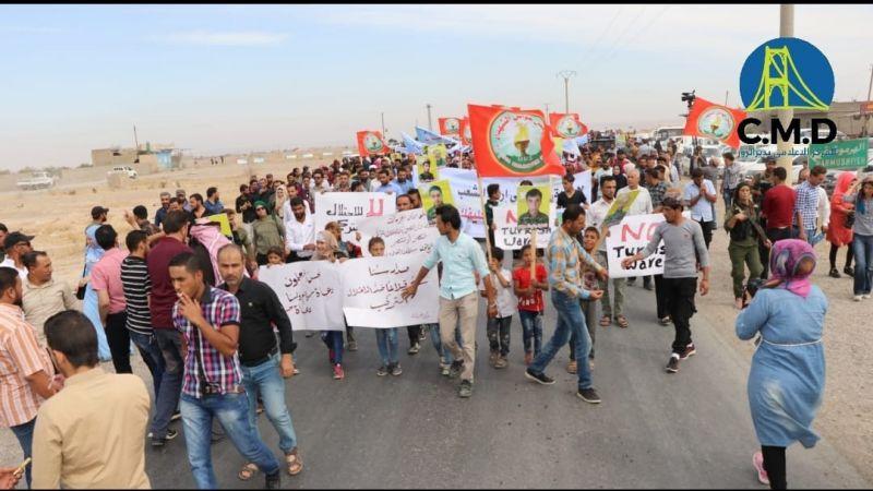 سوريا: مظاهرات تعمّ المناطق الشمالية الحدودية تنديدًا بالعدوان التركي المرتقب