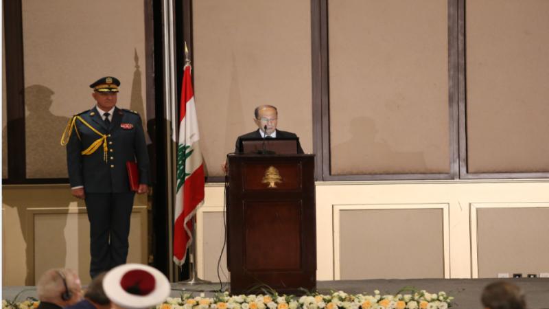 """الرئيس عون: سياسات """"إسرائيل"""" تجاوزٌ فاضحٌ لكل القوانين الدولية"""