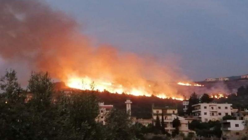 الصليب الأحمر يحصي الحالات الصحية المسعَفة إثر الحرائق المتنقلة