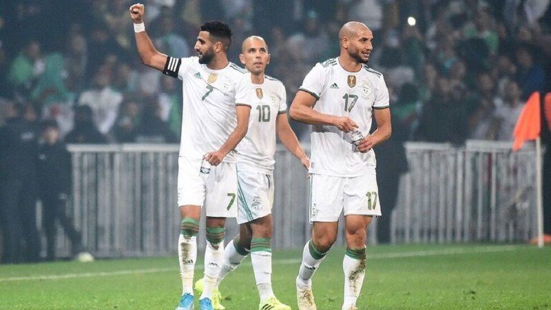 فوز الجزائر على كولومبيا بثلاثية وسقوط المغرب أمام الغابون