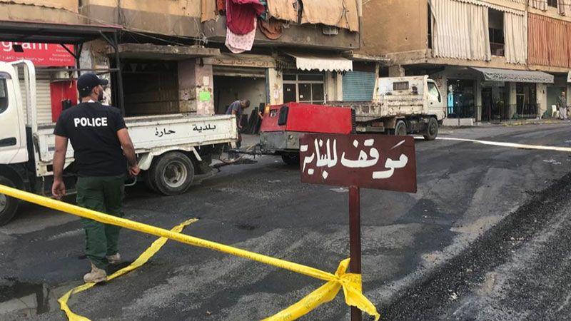 بلدية حارة حريك تستكمل أعمال التزفيت في شوارع الضاحية