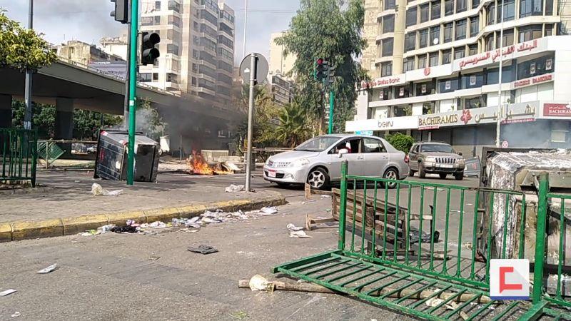 بالفيديو: الغضب الشعبي يعمّ المناطق في بيروت