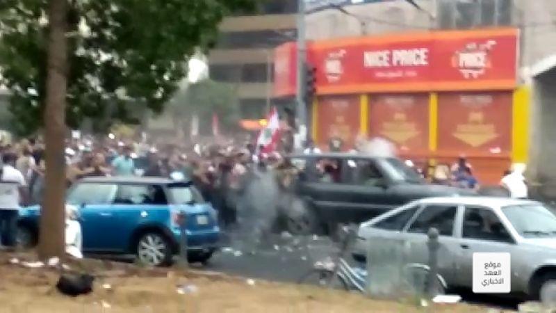بالفيديو .. عناصر أمن مصباح الأحدب يطلقون النار بإتجاه المتظاهرين وإصابات في صفوفهم!