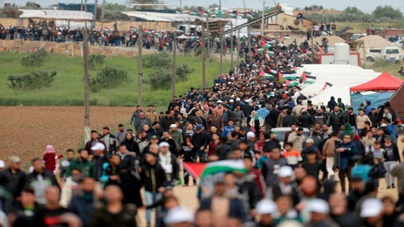 """إصابات برصاص الإحتلال في جمعة """"يسقط وعد بلفور"""" بغزة"""