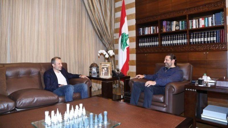 لقاء باسيل ـ الحريري يعكس أجواء ايجابية: لا فيتو على أحد