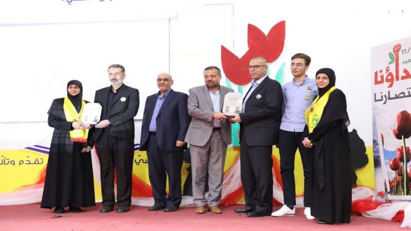 مدارس المهديّ (ع) تكرّم عائلتي الشهيدين حسن زبيب وياسر ضاهر