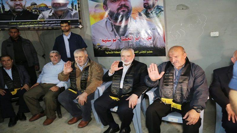 هنية في عزاء أبو العطا: حماس والجهاد عروة وثقى لا انفصام لها