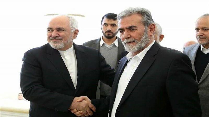 """اتصال بين ظريف والأمين العام لـ""""الجهاد الاسلامي"""""""