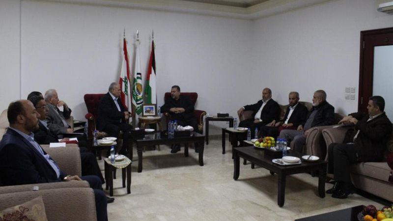 """وفد """"حماس"""" يلتقي قادة الفصائل الفلسطينية في لبنان: للإسراع في تحقيق الوحدة الوطنية"""
