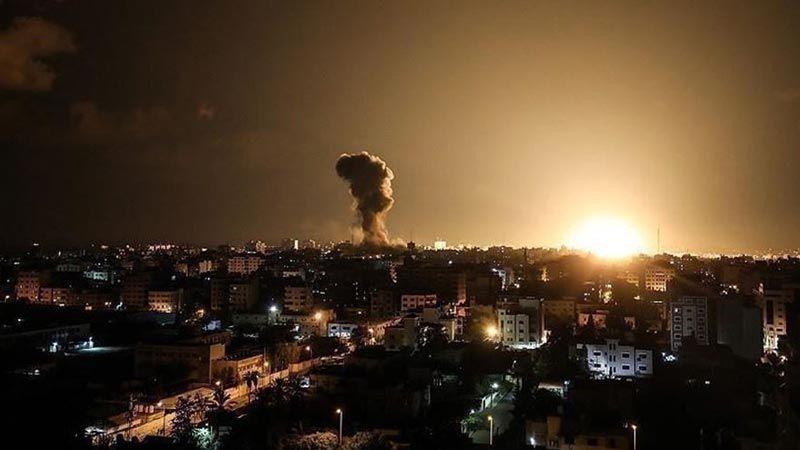 الإحتلال يقصف مواقع للمقاومة في غزة