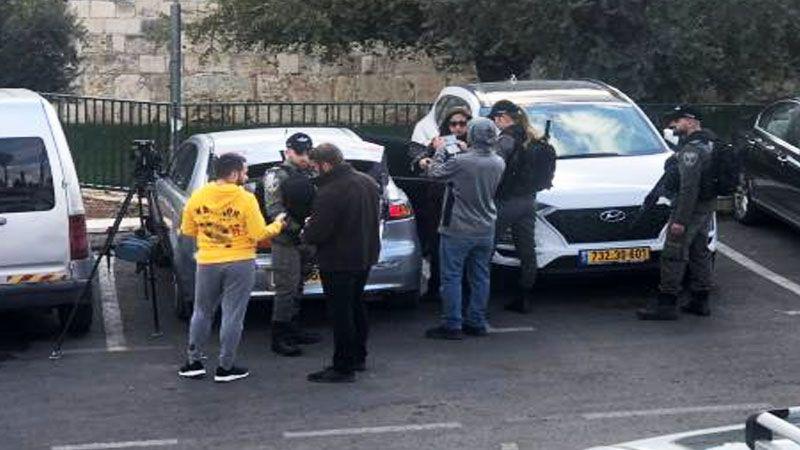 العدو يعتقل طاقم تلفزيون فلسطين في القدس المحتلة