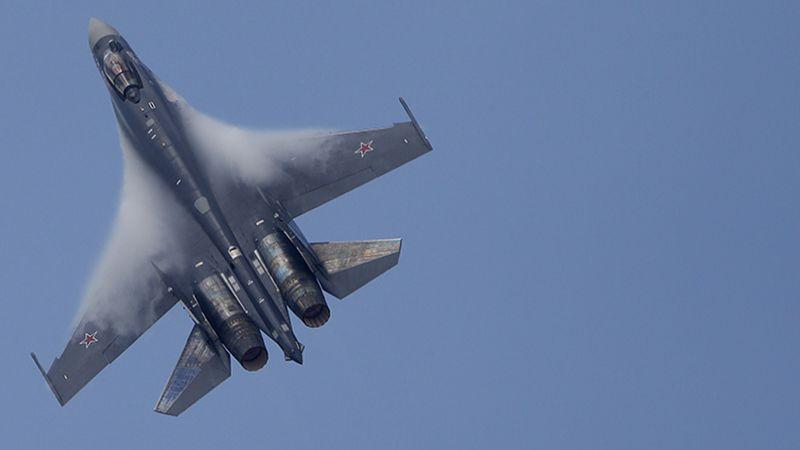 """طائرات """"سو-35"""" روسية تعترض عدوانًا جويًا صهيونيًا على مطار T4 بريف حمص الشرقي"""