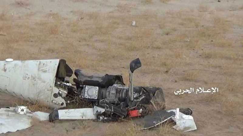 الجيش اليمني يسقط طائرة تجسس للعدوان السعودي قبالة نجران
