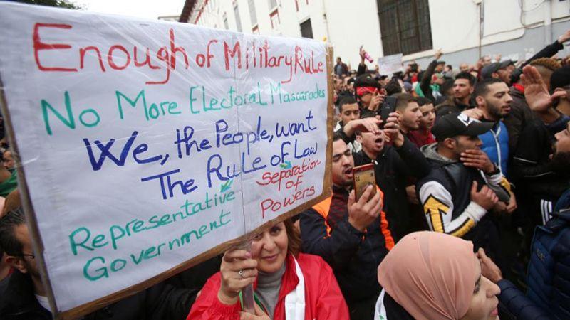 الجزائريون يرفضون رئيسهم الجديد