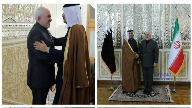 مباحثات بين وزيري خارجية إيران وقطر.. ظريف: خطوة واشنطن عمل إرهابي