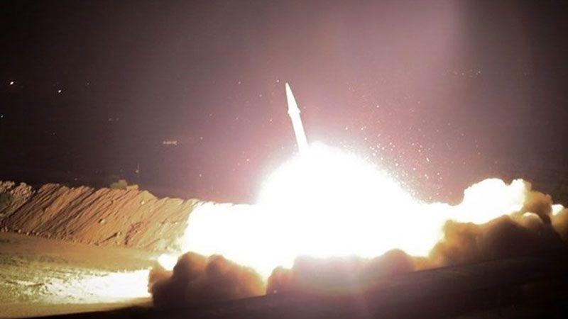 """الحرس الثوري يدك قاعدة """"عين الاسد"""" الاميركية بعشرات الصواريخ الباليستية"""
