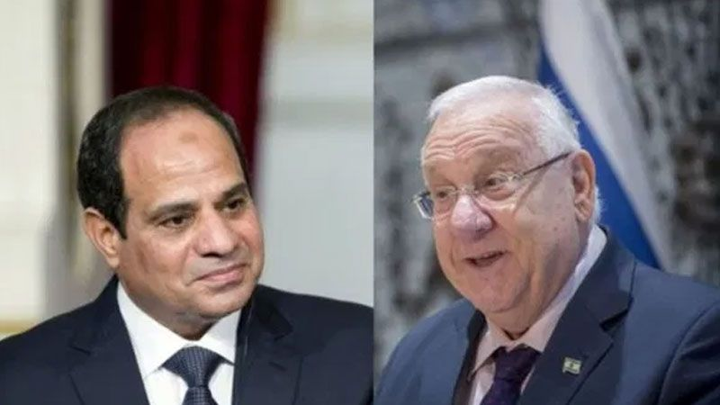 رسالة شكر من رئيس الكيان الغاصب الى الرئيس المصري