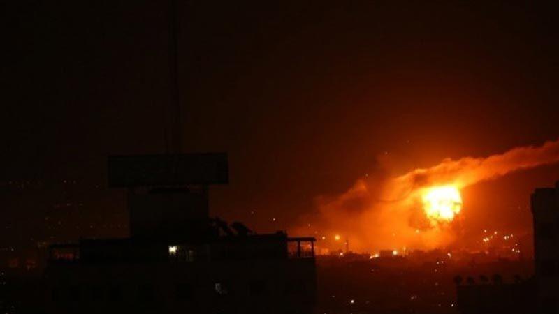 الطيران الحربي الإسرائيلي يقصف موقعًا للمقاومة الفلسطينية شمال غزة