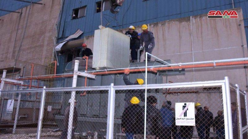 وزارة الكهرباء السورية تبدأ أولى الخطوات لإعادة تأهيل محطة توليد حلب