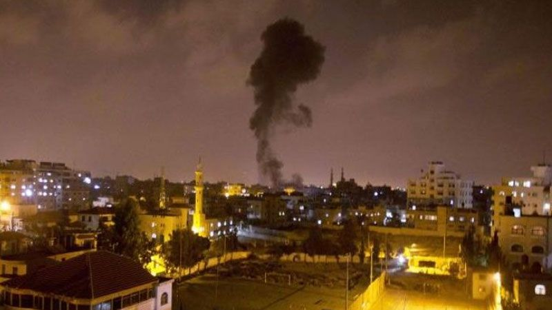غارة جوية اسرائيلية على موقع للمقاومة الفلسطينية في رفح