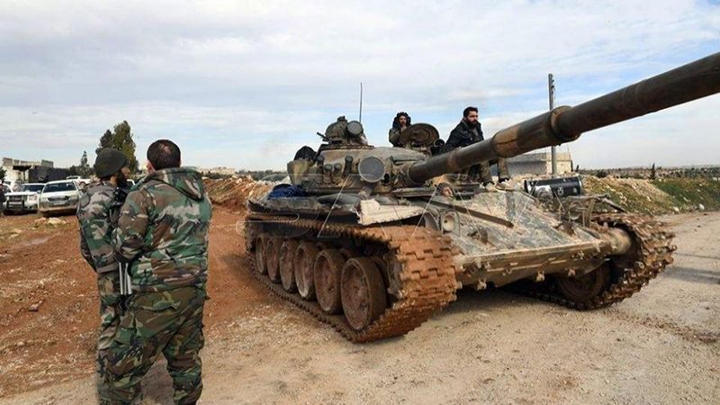 الجيش السوري يصل إلى مشارف الطريق الدولي حلب-دمشق