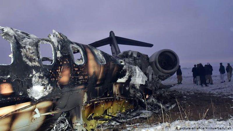 """""""العهد"""": طالبان تأسر ركّاب طائرة التجسس الأميركية التي أسقطت في أفغانستان"""