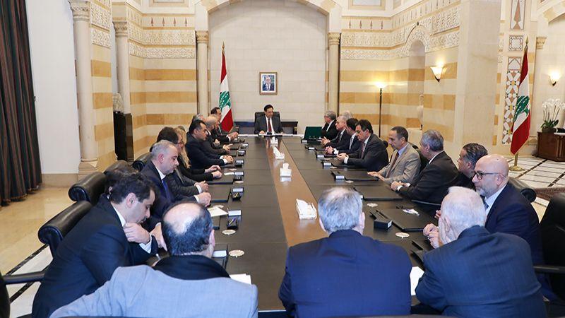 """الحكومة تعقد جلستها الأولى بعد الثقة وقرار بتشكيل لجنة لاتخاذ الخيارات المناسبة لجهة استحقاق """"اليوروبوند"""""""
