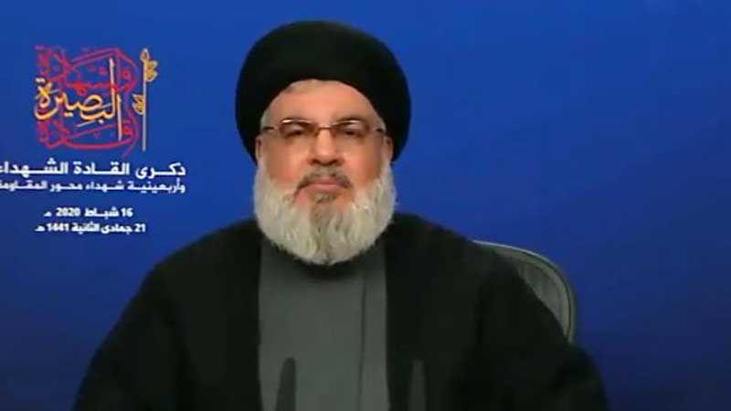 كلمة سماحة السيد حسن نصر الله خلال مهرجان قادة الشهادة والبصيرة 16-2-2020