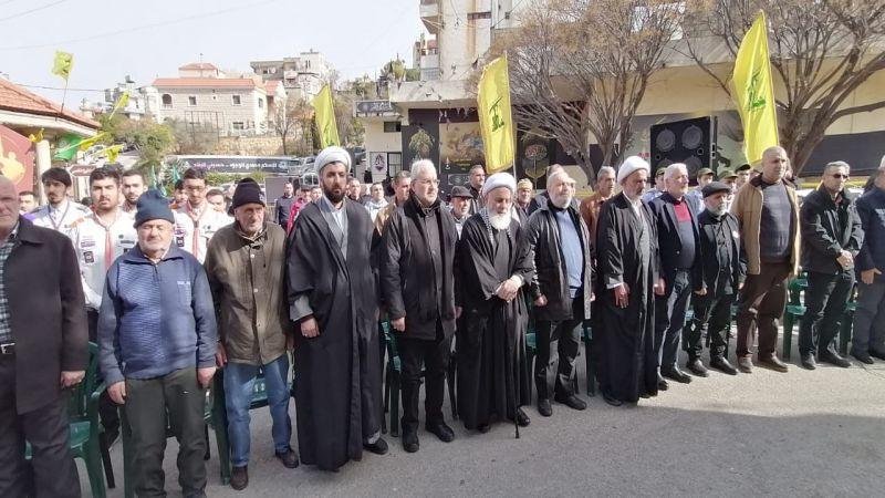 حزب الله يحيي ذكرى الشهداء القادة في بلدة جبشيت