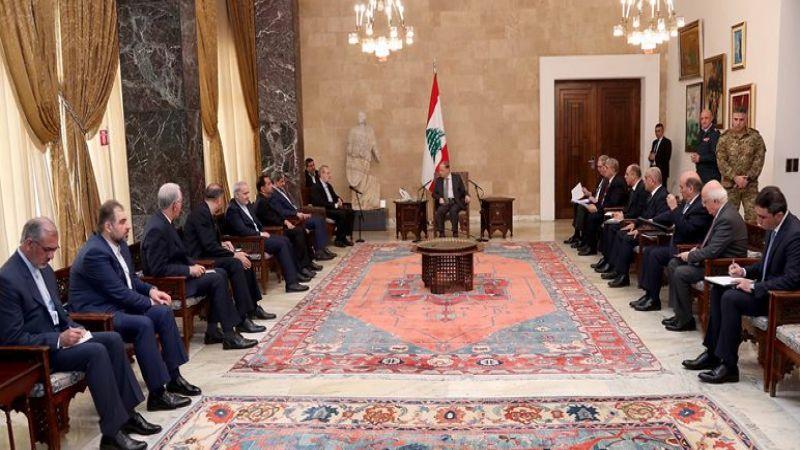 لاريجاني يلتقي عون وبري ودياب: مستعدون للمساعدة لتحسين الاوضاع الاقتصادية