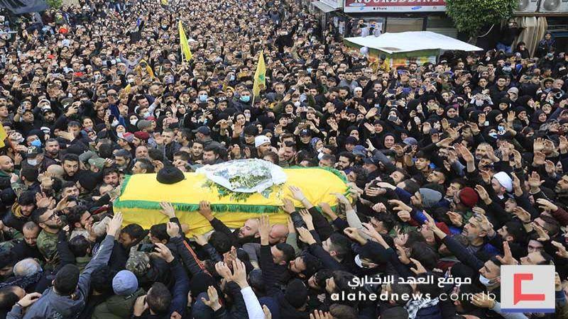 تشييع شهداء المقاومة الإسلامية الخمسة في روضة الحوارء(ع) ـ بالصور