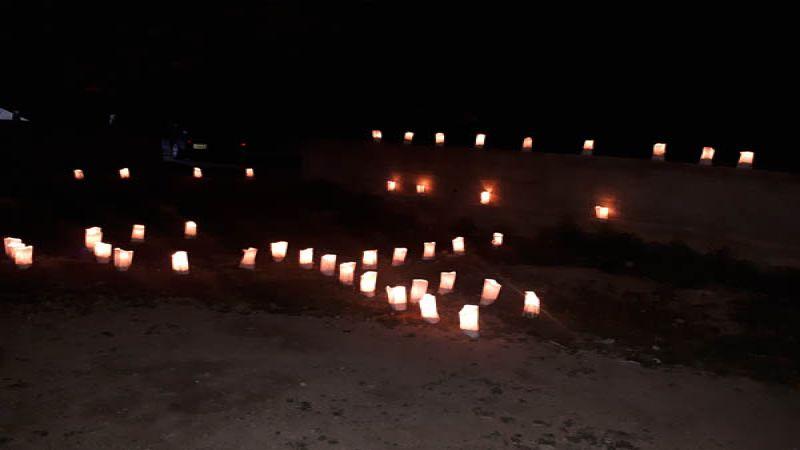 إضاءة شموع في الهرمل بمناسبة ولادة الإمام علي (ع)