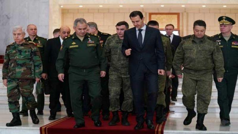 الرئيس الأسد يستقبل شويغو وبحث في تنفيذ اتفاقية إبعاد الإرهابيين عن طريق حلب اللاذقية
