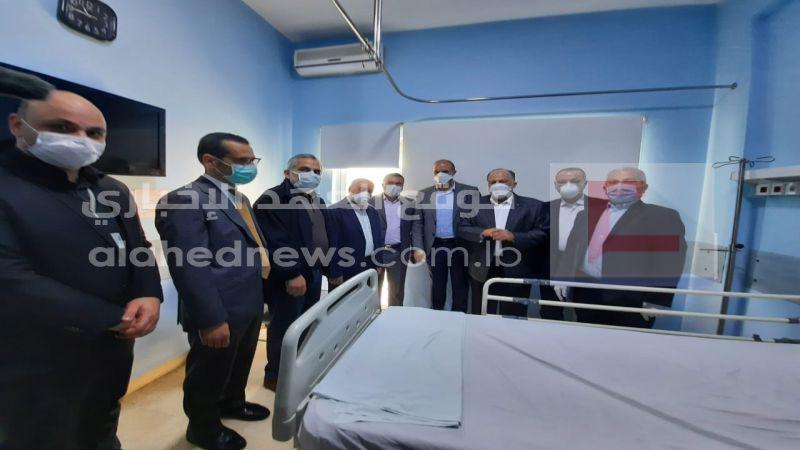 مناورة حية بحضور وزير الصحة في مستشفى سان جورج المخصصة لحالات الكورونا..بالصور