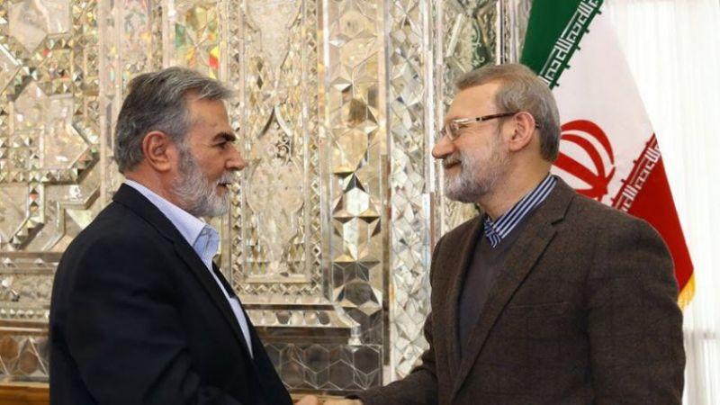 لاريجاني لنخالة: نؤكد حتمية انتصار جبهة المقاومة الاسلامية على الكيان الصهيوني
