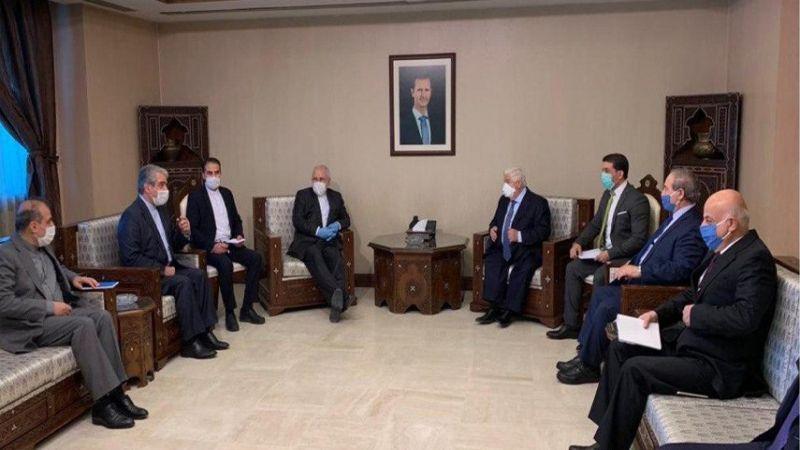 ظريف في سوريا.. لقاء مع الأسد والمعلم