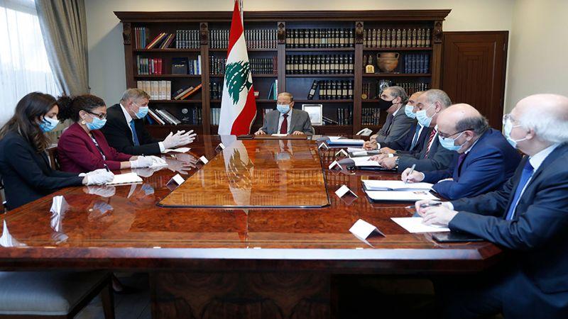 """الرئيس عون لكوبيتش: """"اسرائيل"""" تستمر بانتهاك القرار 1701"""