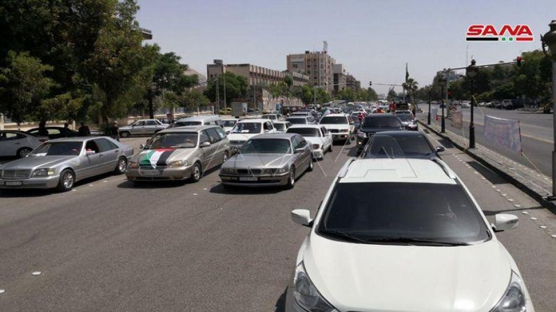 مسيرة سيّارة في دمشق تضامنًا مع القدس