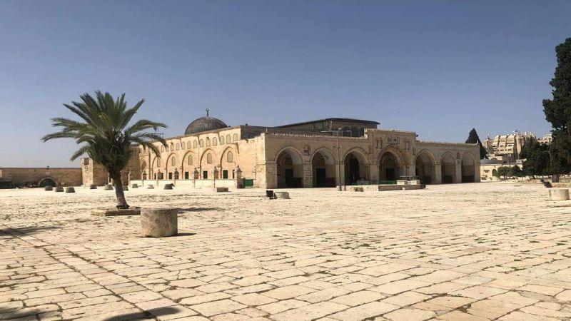 المسجد الأقصى في آخر جمعة من شهر رمضان بلا مصلّين