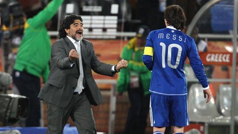 مارادونا يمدد عقده وميسي يعاني من الإصابة