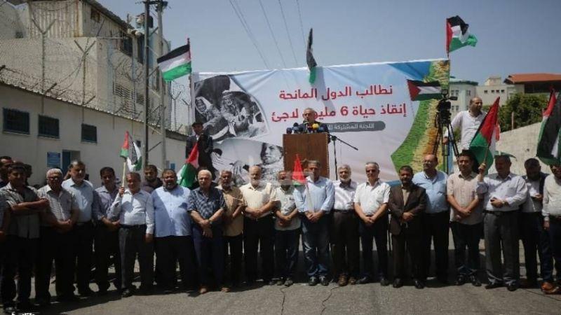 اللاجئون الفلسطينيون يؤكدون حقهم بالعودة إلى ديارهم